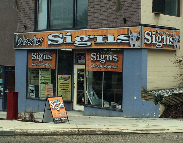 Interior Signs Trail BC Best Sign Shop around